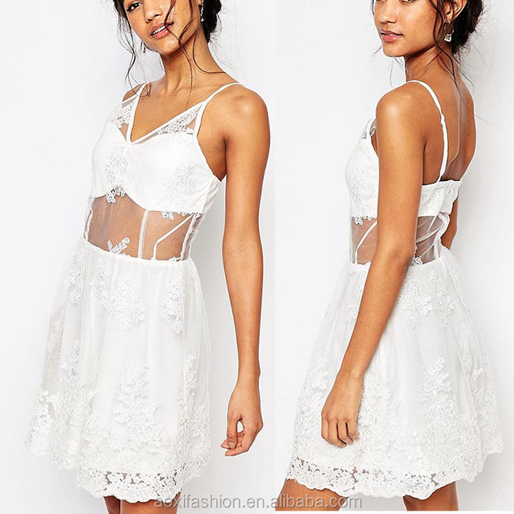 New fashion ladies sexy sleevelss short mini white wedding dress of korean design