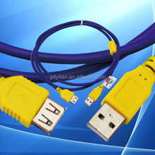USB2.0 CABLE extension Cable DOUBLE COLOURS A-B U-002B