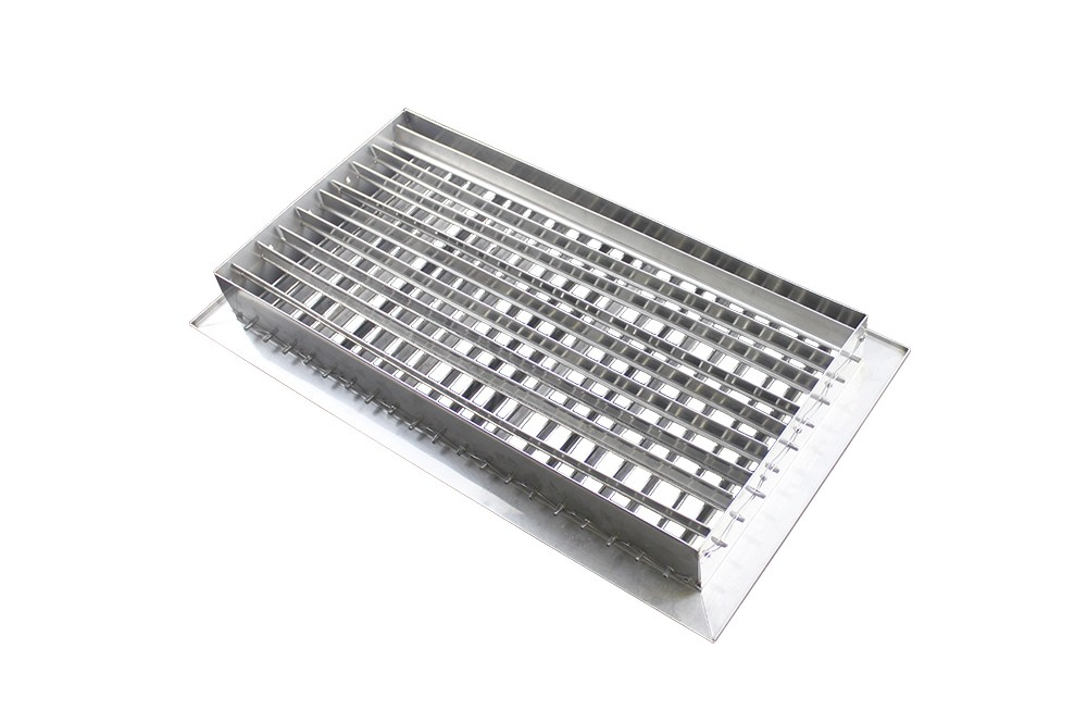 Stainless Steel Duct Grille : Stainless steel double deflection return supply
