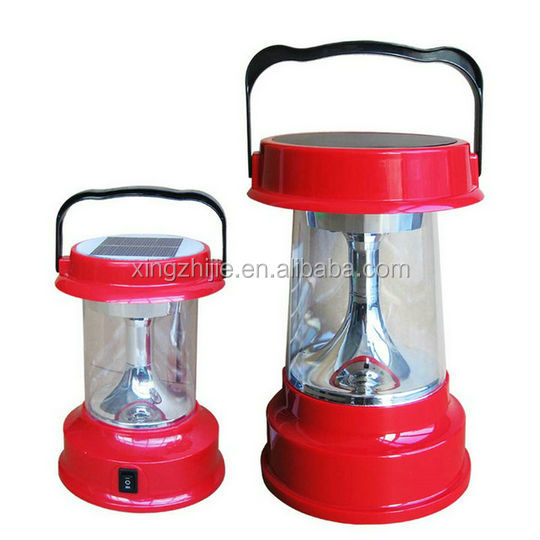Solar portable light plastic classical model led light with two ways of power