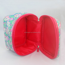 New design fashion canvas cosmetic bag makeup