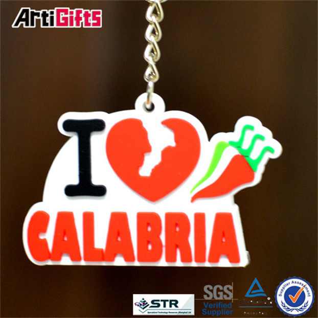 Customized design 3d soft pvc keyring with carabiner