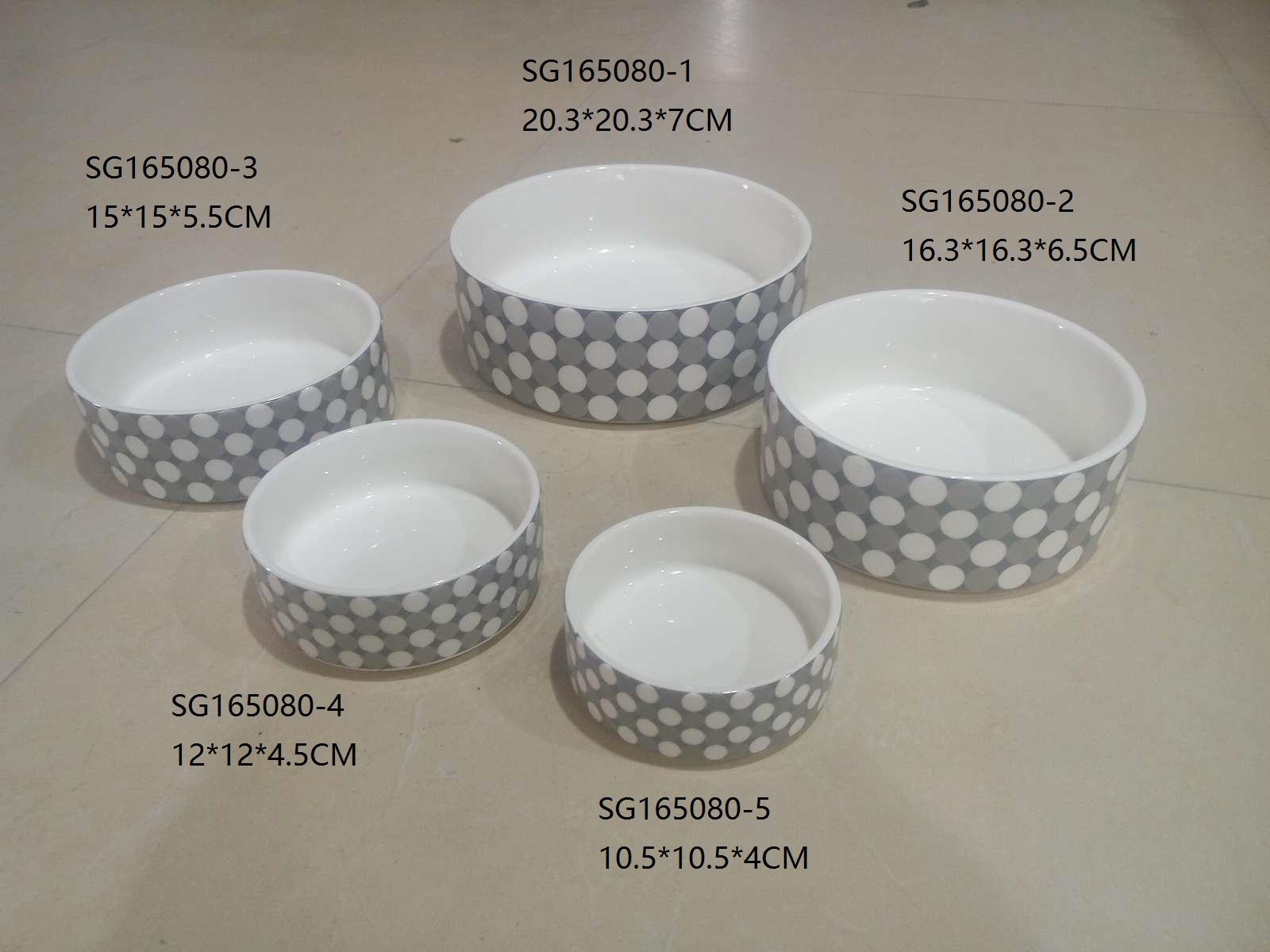 ПЭТ Чаша для пищевой воды, маленький, средний, большой керамические чаши собака для собак и кошек