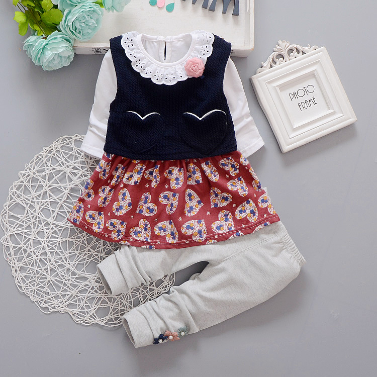 Girls boutique clothing set Spring Autumn long sleeve tops+pants set baby clothing set children's clothes clothing set