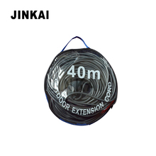 J100067 Black Outdoor Extension Cord 240V 3 Pin Power Cord Cable Australia Type With Carry Bag