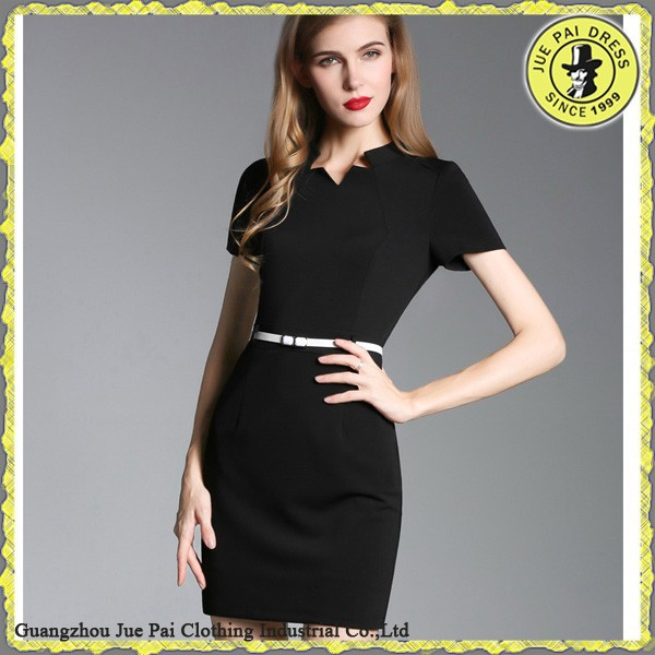 New Design Simple Pure Color Casual Dresses For Ladies