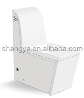 Elegant and high quality Washdown one piece back to wall toilet