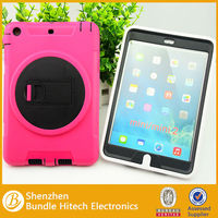 With stand pc silicon case for iPad Mini,pc silcone cover for iPad Mini