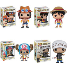 Hot-selling Custom One Piece Funko pop Luffy Chopper ACE mini cute 10cm anime figures action figures for Decoration&Gifts
