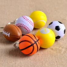 Cheap Football Basketball Baseball Table Tennis PU Keychain Toys, Fashion Sports Item Key Chains Gift For Boys And Girls