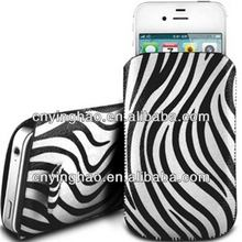 Designer hot selling for iphone 4 genuine leather flip case