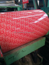 Flower Design Pattern Steel Coils and Sheet with PVC Film/PPGI