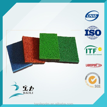 Swimming pool rubber granules in various colors