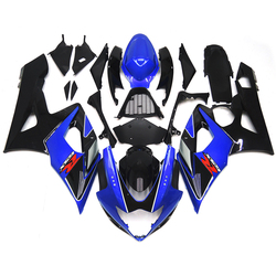 Injection Fairings For Suzuki GSXR1000 K5 05 06 2005 2006 ABS Complete Motorcycle Fairing Kit Fittings Movistar Blue Black