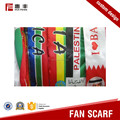 Custom printed soccer knitted scarf new design