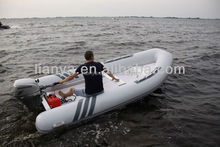 Liya 2.4-4.2m double hull pvc rescue tender rigid hull inflatable boat