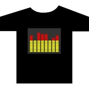 [Stunningl]Wholesale 2009 fashion hot sale T-shirt A49,el t-shirt,led t-shirt