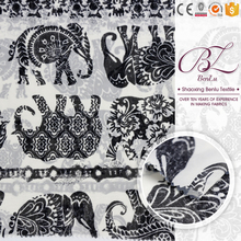 Soft shaoxing fabric supplier polyester crepe animal pictures print chiffon fabric price for dress