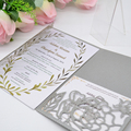 Laser cut wedding invitations card envelopes decorations