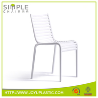New china products Simple chair armless white plastic chair garden