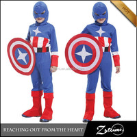 Newest Design Halloween Children's Stage Performance Suit Captain America Costume