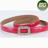 Wholesale genuine leather belt cowhide women belt with Crystal OEM LB3474