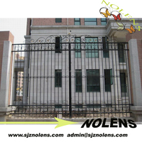 Residential Ornamental Wrought Iron Fence Models Design for home garden/wrought iron fence