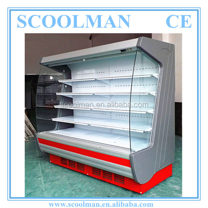 Air Curtain Open Front Drinks Refrigerator Storage