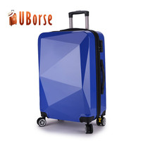 Colorful high quality abs luggage, travel trolley luggage bags cases