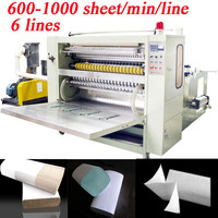 Copied Italy Design 6Lanes 4800 Piece per Minute N Fold Laminated High Speed Automatic Hand Towel Paper Making Machine