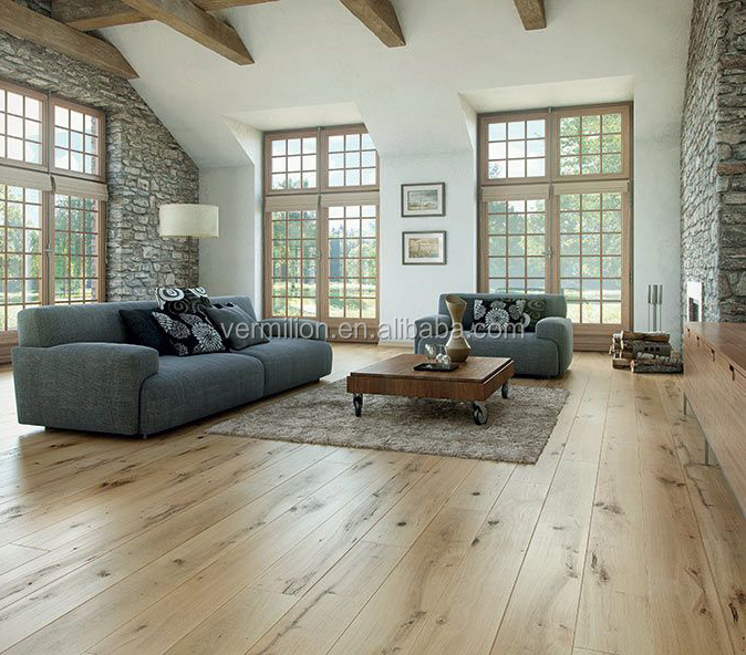 Rustic Oil Teak Engineered nature wood parquet flooring