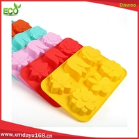 6 cavity Cake Silicone Mold Chocolate Cookie Baking Pan