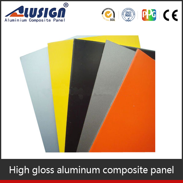 Alusign imitation stone interior and exterior ACP wall cladding for panneau composite guangzhou