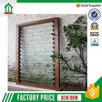 Aluminum single tempered glass louver windows