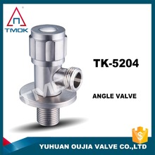 Chrome Plated Angle Valve SS pneumatic angle valve seat stainless steel DN20 3/4 inch normally open for water