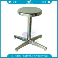 AG-NS009 ISO CE cheap doctor hospital stainless steel stool