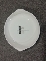 ZY022 cheap white ceamics plate with handle /ceramic plate stock