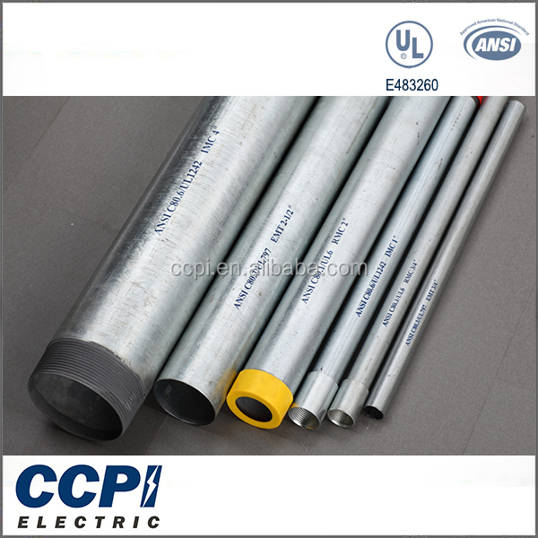 "China CCPI Factory Galvanized Surface Finish 1/2""-4"" Steel Pipes EMT Conduit Sleeve"