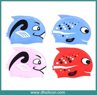 safe silicone OEM brand children swim cap