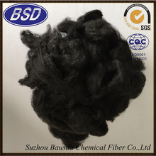 1.5D-20D black 100% pet reccycled Dyed Polyester Fiber