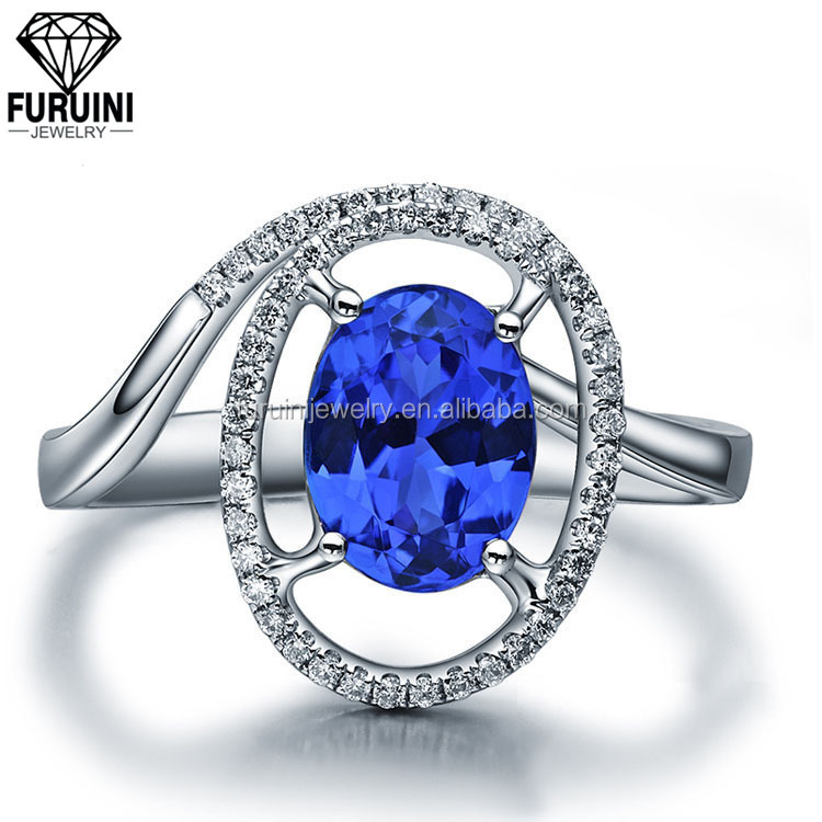 Milky Way high quality happiness blue crystal ring,copper alloy ring