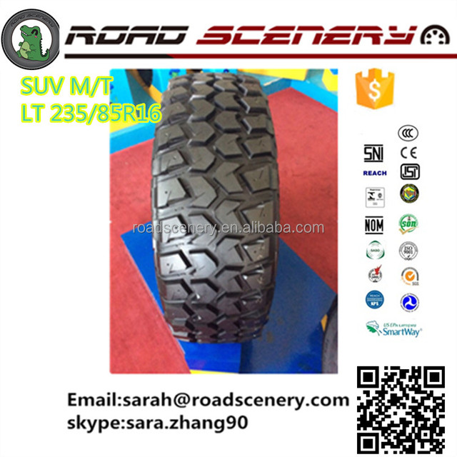 China top quality M/T car tires LT235/85R16 for ORV best choice to challenge hills,mud and snow