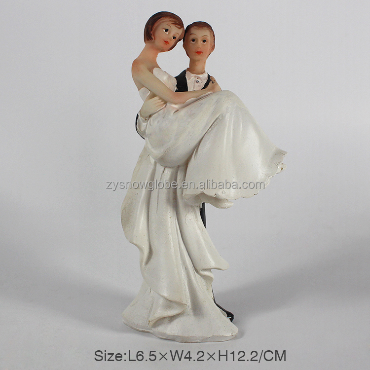 Wedding cake topper resin couples figurine