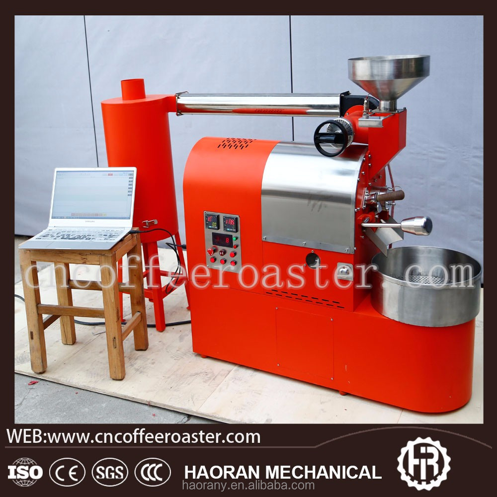 Hot sale gas heating 1kg cocoa bean roasting machine/coffee roaster with best price