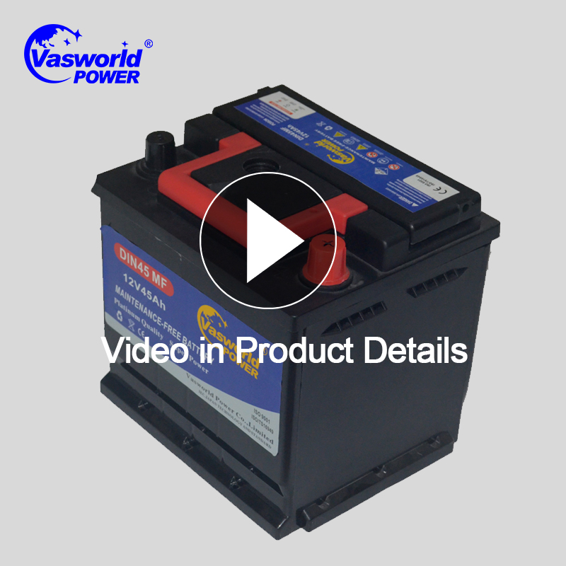Various models car battery 12v 45ah Maintenance Free Car battery Lead Acid Sealed MF Battery