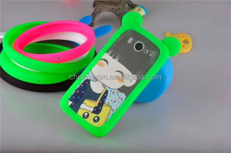 Silicone New Ring 3D Cell Phone Case