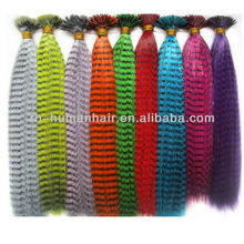 Wholesale price 2012 Hot selling Synthetic Feather Hair Extension 0.6g/strand fashion hair