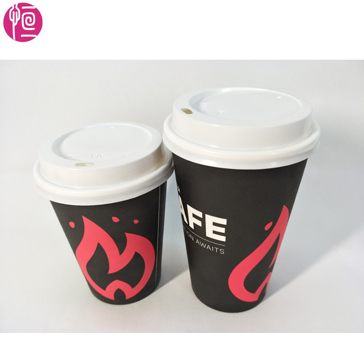coffee cup images printed by factory of disposable coffee paper cups