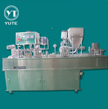 paper cup filling and sealing machine with print date