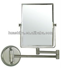 HSY-1756 swivel wall mounted flexible square makeup mirror